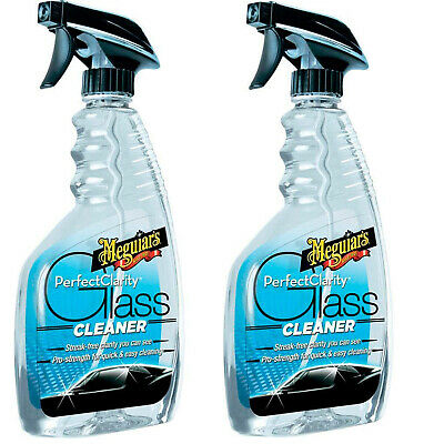 Meguiars Perfect Clarity Glass Cleaner Streak Free Cleaning Car 2 Pack 473 ml