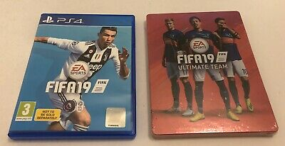 FIFA 19 Standard Edition Sony PlayStation 4 PS4 Inc Steelbook Case PAL
