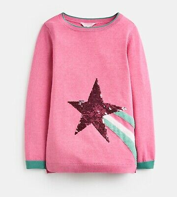 Joules Girls Miranda Knitted Jumper Pink Age 6 Years BNWT NEW