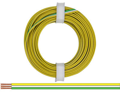 5m Flachleitung 3x0,14mm² 3-farbig Flachband-Drillingslitze ideal f LED-Strips