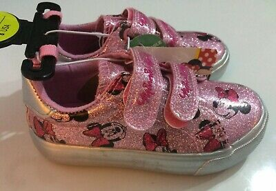 DISNEY MINNIE MOUSE Pink Trainers Sneakers Shoe Girl Young Girls Primark