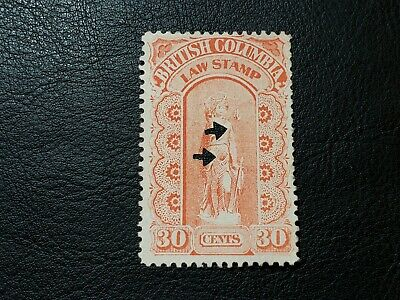 Canada Stamp #BCL10 British Columbia 30 Cents Law Stamp Revenue BC #A051
