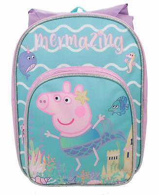 Peppa Pig Mel Arch with Hood Kids Backpack, Girls Pink Canvas Rucksack