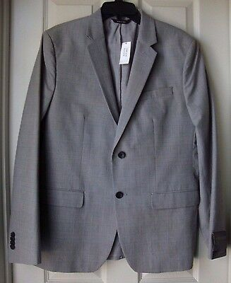 New Banana Republic Men's Houndstooth Tailored Slim Fit Blazer Gray Variety Szs