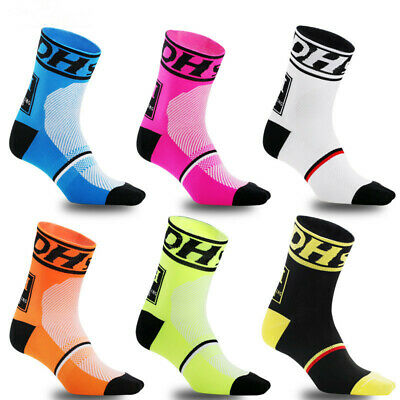 VS2# Outdoor Sports Compression Riding Socks Women Men Cycling Calf Length Socks