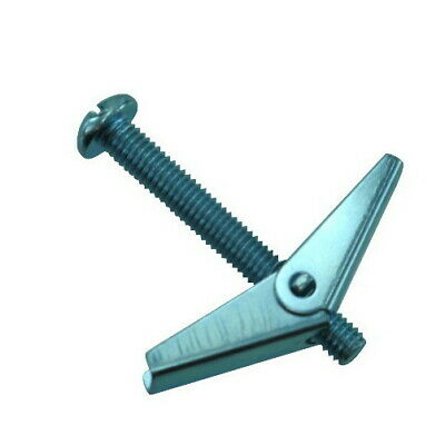 """1/8"""" (6/32) X 4"""" Zinc Plated Round Head Combo Toggle Bolts (Pack of 12)"""