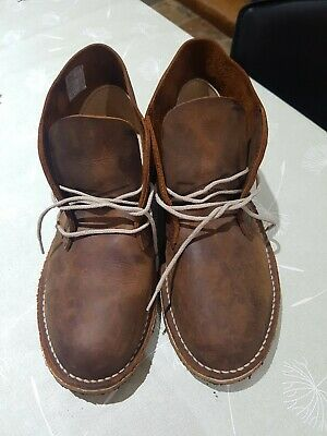 Hawkshead Waxy Brown Leather Mens Desert Boots EU41 UK7/8? Worn Once Excellent