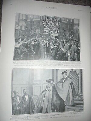 Banquet for Officers and men HMS Centurion Portsmouth 1901 print ref AM