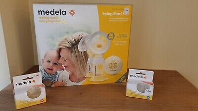 Medela Swing Maxi Flex Double Electric 2-phase Breast Pump Extras NEW