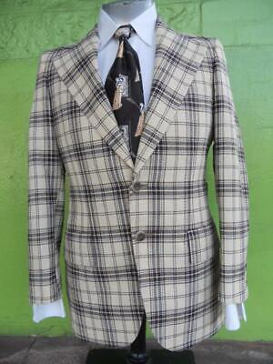 1960's Checked Sports Coat by 'Varsity Town Clothes' USA, size L