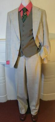 1970's 2 piece Suit, Wide Lapels and Flares by 'Kentish, Size L'
