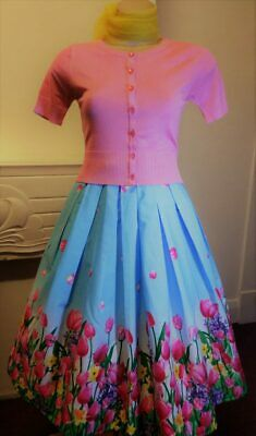 50's swing Skirt Tulip print 'Angelique' by Hell Bunny