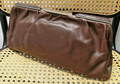 Leather clutch bag 1920's