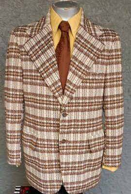 Checked Polyester sports-jacket ,1970's by 'Matt Andrews' for Zayre stores US...