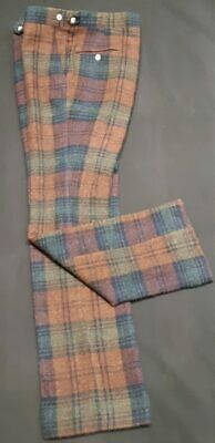 Tartan wool pants by 'Colebrooke', USA, 1960's size L, 36""