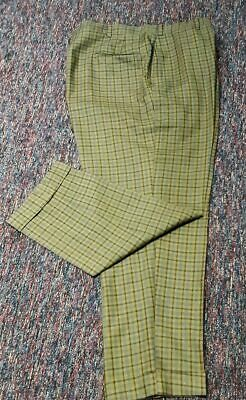 Checked turned up cuff gaberdine ,1960's pant, USA by 'Hart Schaffner & Marx'...