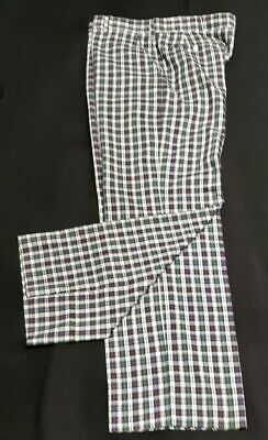 Checked pants, 1960's, cotton USA, by 'Haggar' size XL, 38""
