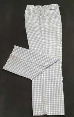 Checked pants, 1980's, USA by 'Izod', polyester/ rayon size M 34""