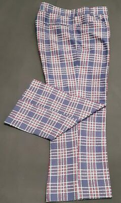Checked flares 1960's, USA by 'Wright', size XL, 38""