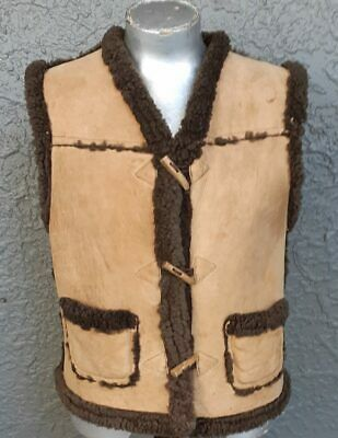 Sheepskin Vest, 1970's by 'Skin Deep', NZ, size M