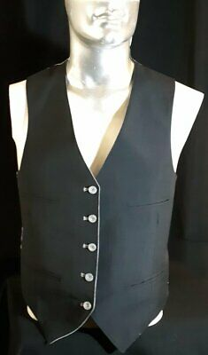 Waistcoat, Black and grey reversible, gaberdine, 1960's, USA, size M-L
