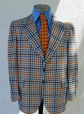 1970's Checked Sports Coat by 'McGregor', USA, size XL