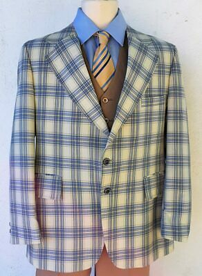 1970's Checked sports-coat by 'J.C Penny', USA, size L