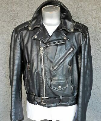 1960's Genuine Leather 'James Dean' Motorcycle Jacket, by 'Excelled' USA, size L