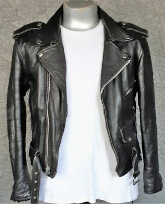 Genuine Leather Motorcycle Jacket 'Marlon Brando' by 'First' USA, size S