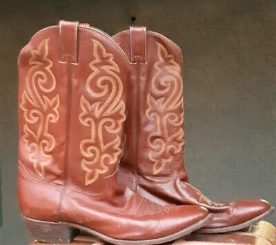 Western leather boot by 'Justin' USA, Buck Chestnut, size 12