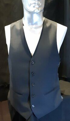 "Black polyester waistcoat By ""Jack London' Size M"