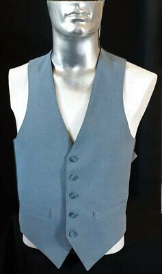 Reversible waistcoat, grey and navy, gaberdine, 1970's, USA size M