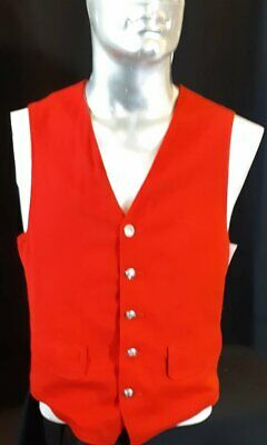 Red wool waistcoat by 'Pendeleton' USA, size M