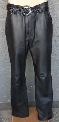 Leather bike pants by 'Leathercult' size 34""