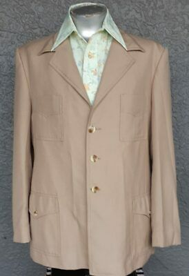 Safari Jacket, Long sleeved, wool/polyester by 'Peter Shearer' size XXL