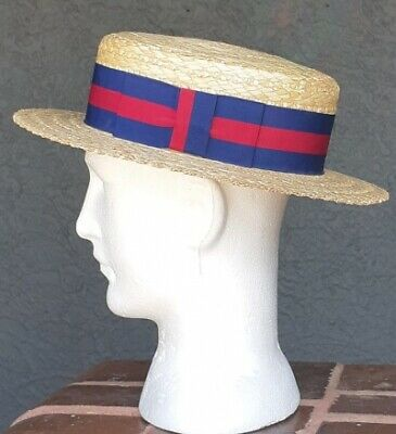 Straw Boater, Made In England by 'Olney' size 58