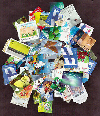 50 x FINLAND first class uncancelled NO GUM stamps OFF paper; FV = €80
