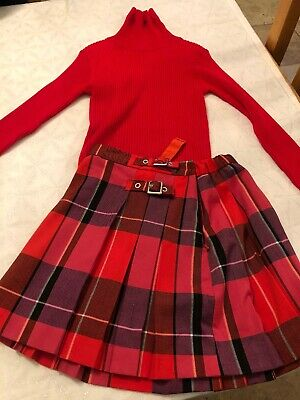 Next Girls Age 9 Years Skirt And Polo Combo