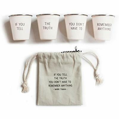 Stainless Shot Glasses Steel Cool Set With Canvas Travel Pouch