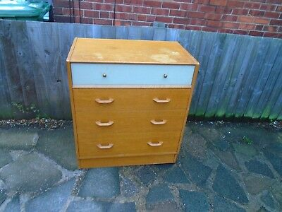 mid century g plan e gomme brandon light oak chest of drawers.