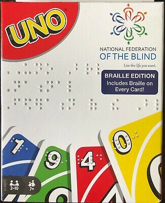 Uno Braille Edition Card Game National Federation of the Blind **BRAND NEW**