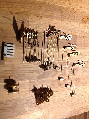 Antique Clock Chimes Gong Rods Parts Clockmakers Collection Spare Parts