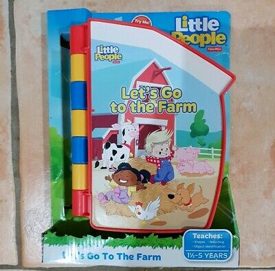 Little People Fisher Price Lets Go Farm Puzzle Book NEW