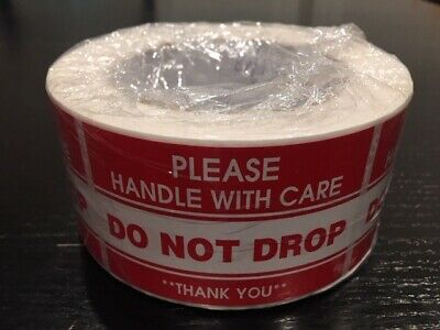"""500-Sticker 2x3"""" **Please Handle With Care--DO NOT DROP**"""