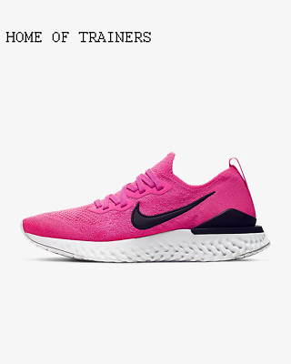 Nike Epic React Flyknit 2 Pink Blast White Black Girls Women's Trainers All Size