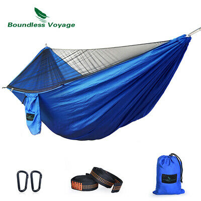 Outdoor Camping Hiking Picnic Double Hammock with Mosquito Net Max Load 200kg