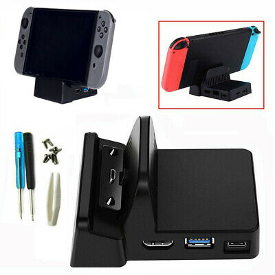 Replacement Dock Docking Station Mount Cooling DIY For Nintendo Switch UK Stock