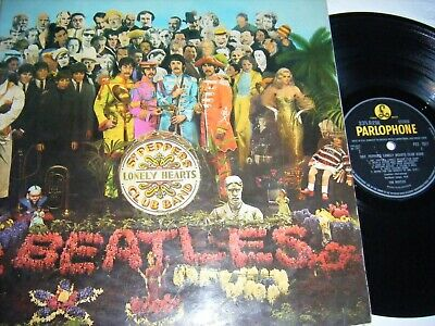 THE BEATLES - SGT PEPPER 1967 ORG 1st PRESSING STEREO  COMPLETE, V/G++