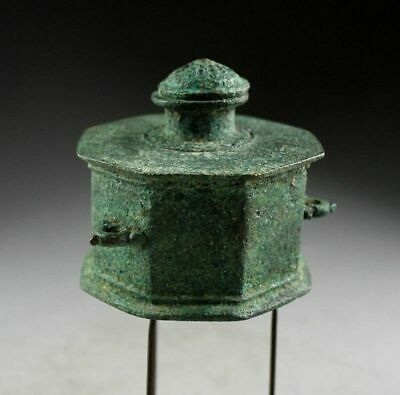 *Sc* Early Islamic Bronze Lidded Inkwell, 13Th.-14Th. Cent. Ad