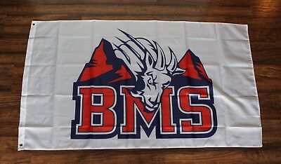 Blue Mountain State Banner Flag Beer Can Cold Drink Holder Set 3x5 BMS Goats New